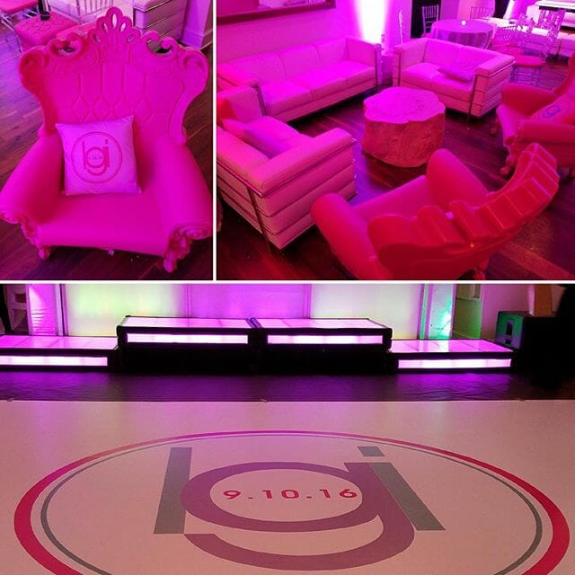 We were definitely pretty in pink at Leah Gorberg's Bat Mitzvah! #mitzvahswag #prettyinpink #allaroundentertainment #leah #AAE